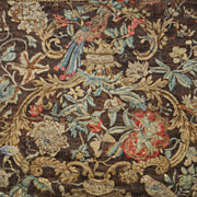 18th Century English Crewel Work Crewelwork Needlework Panel Wall Hanging Georgian Circa 1740