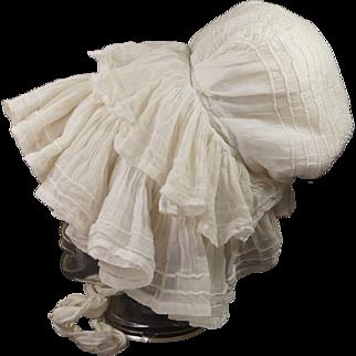Early 19th Century Ladys Mob Cap Day Bonnet English Circa 1820 Georgian