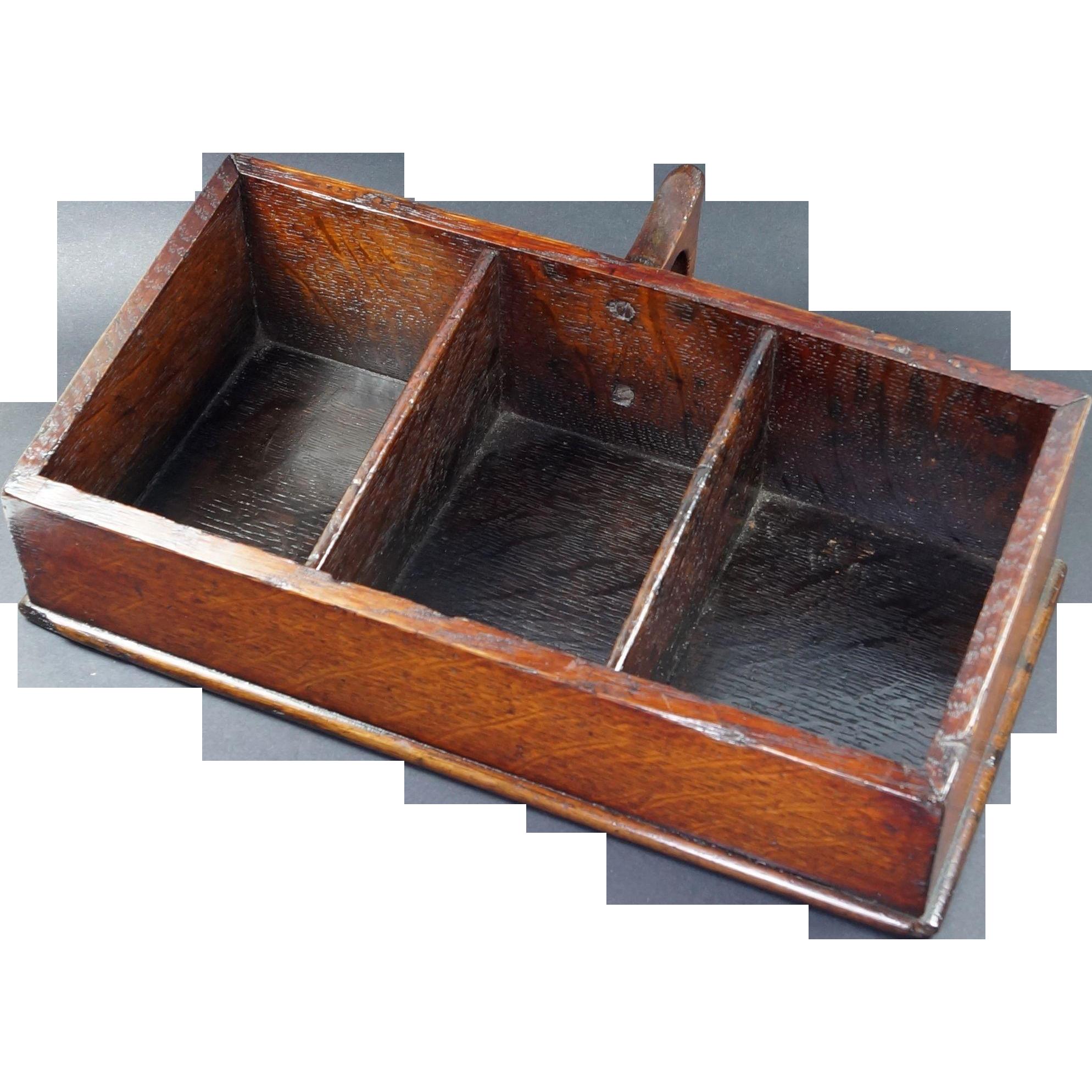 Antique Church Collection Box LOVELY English Oak Circa 1840 Folk Art