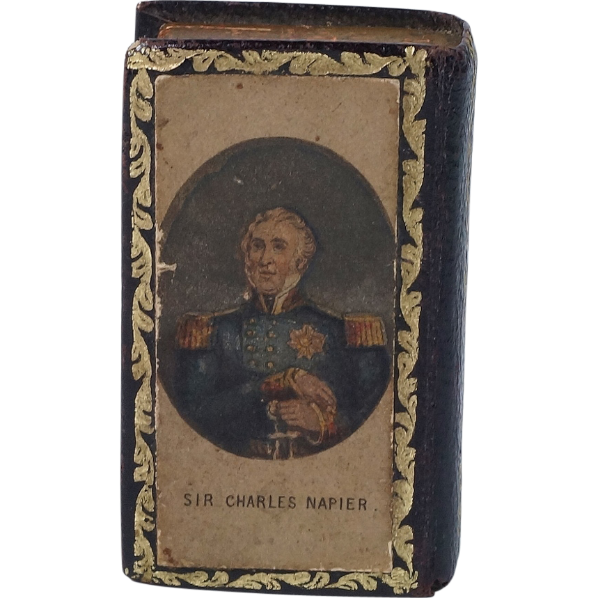 Antique Needle Box Needle Case With Needles Baxter Admiral Sir Charles Napier 1855