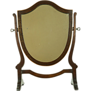 Antique 19th Century Small Dressing Mirror English Delicious