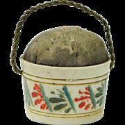 Antique Early 19th Century Pincushion Emery English Circa 1810 Georgian Doll Size