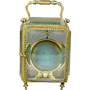 Antique French Bevelled Glass Cherub Vitrine Pocket Watch Holder Porte Montre C 1870