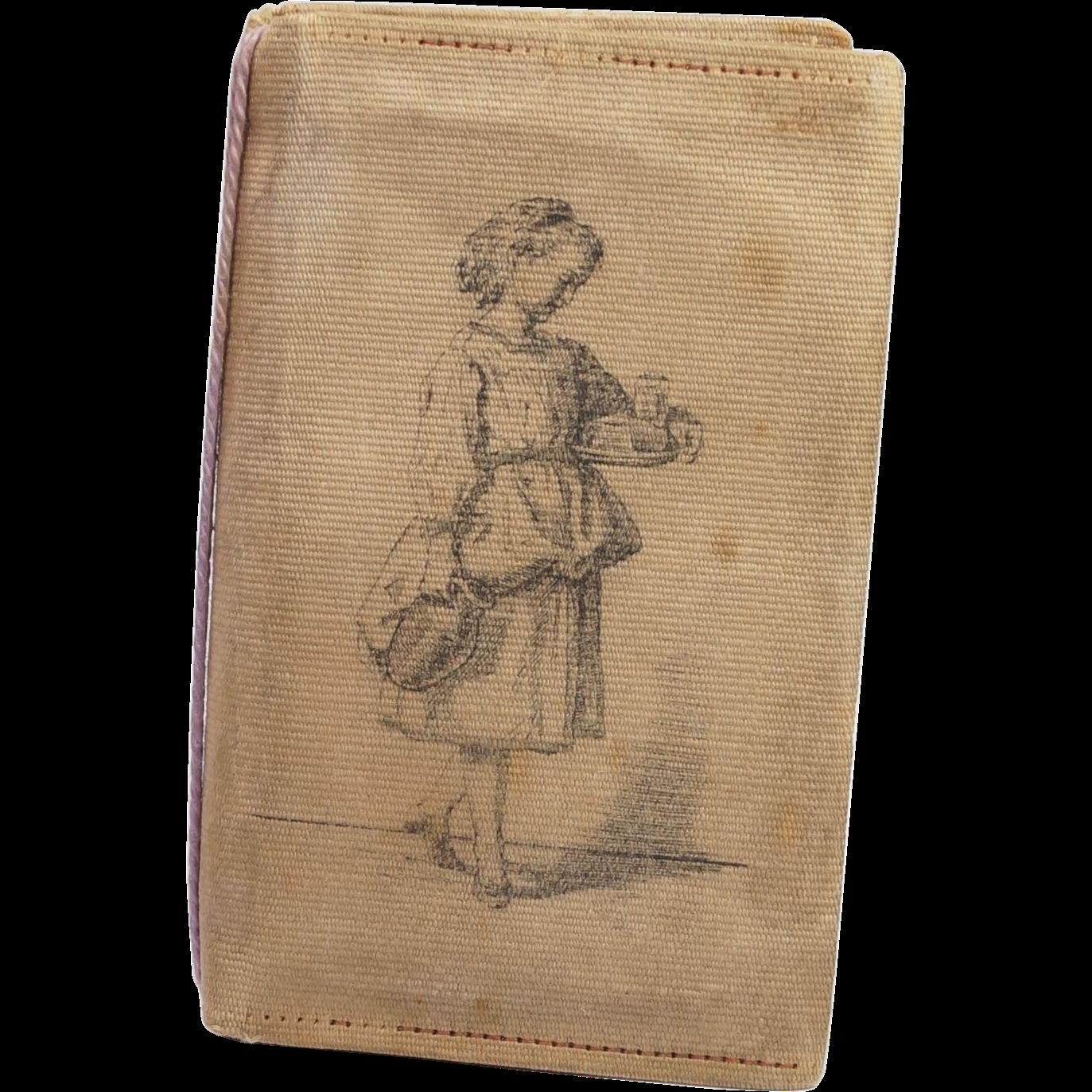 Antique 19th Century Victorian Aide Memoir Note Book Rare Printed Cover English Circa 1880