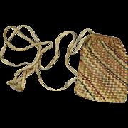 17th Century Needlework Purse Open Work Silkwork Embroidery Circa 1600s