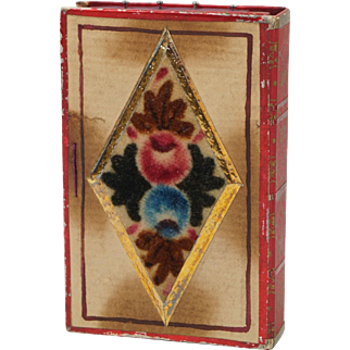 Early 19th century Pincushion Pinwheel Theorem Pin Cushion English Georgian Folk Art Circa 1820
