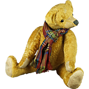 Early 20th Century German Teddy Bear Hump Back Pronounced Nose Swivel Joints Circa 1920