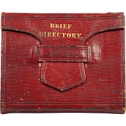 19th Century Georgian Miniature Book Red Leather A Brief Directory For Evangelical Ministers Perfect For Dolls Circa 1830s