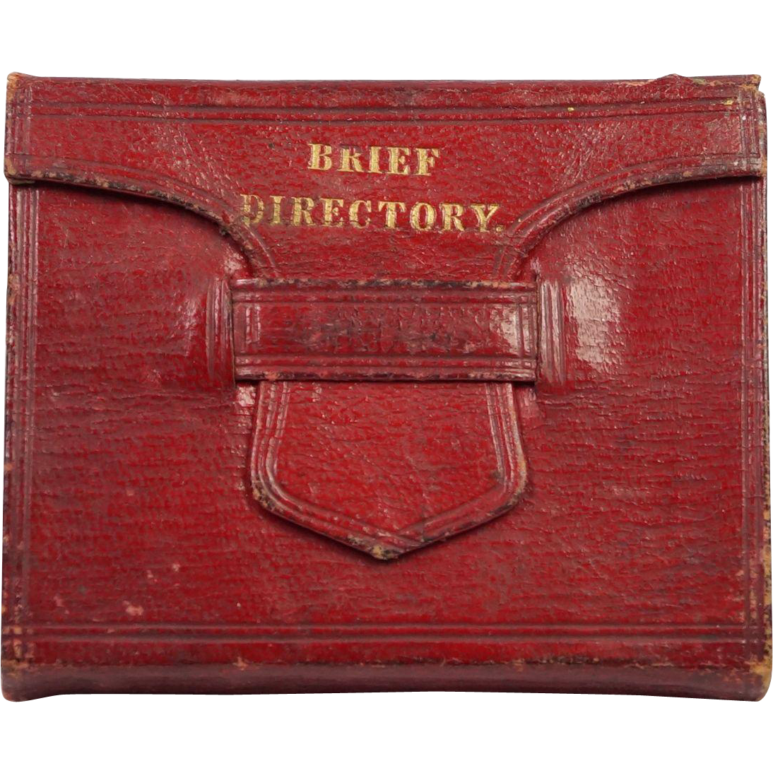 Georgian Miniature Book Red Leather A Brief Directory For Evangelical Ministers Perfect For Dolls C 1830s