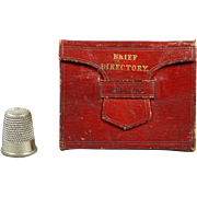 19th Century Miniature Book Red Leather Perfect For Dolls Georgian Circa 1830s