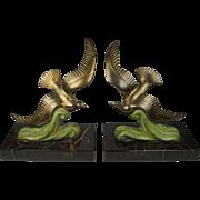 French Art Deco Bird Figures Quality Pair Circa 1920's