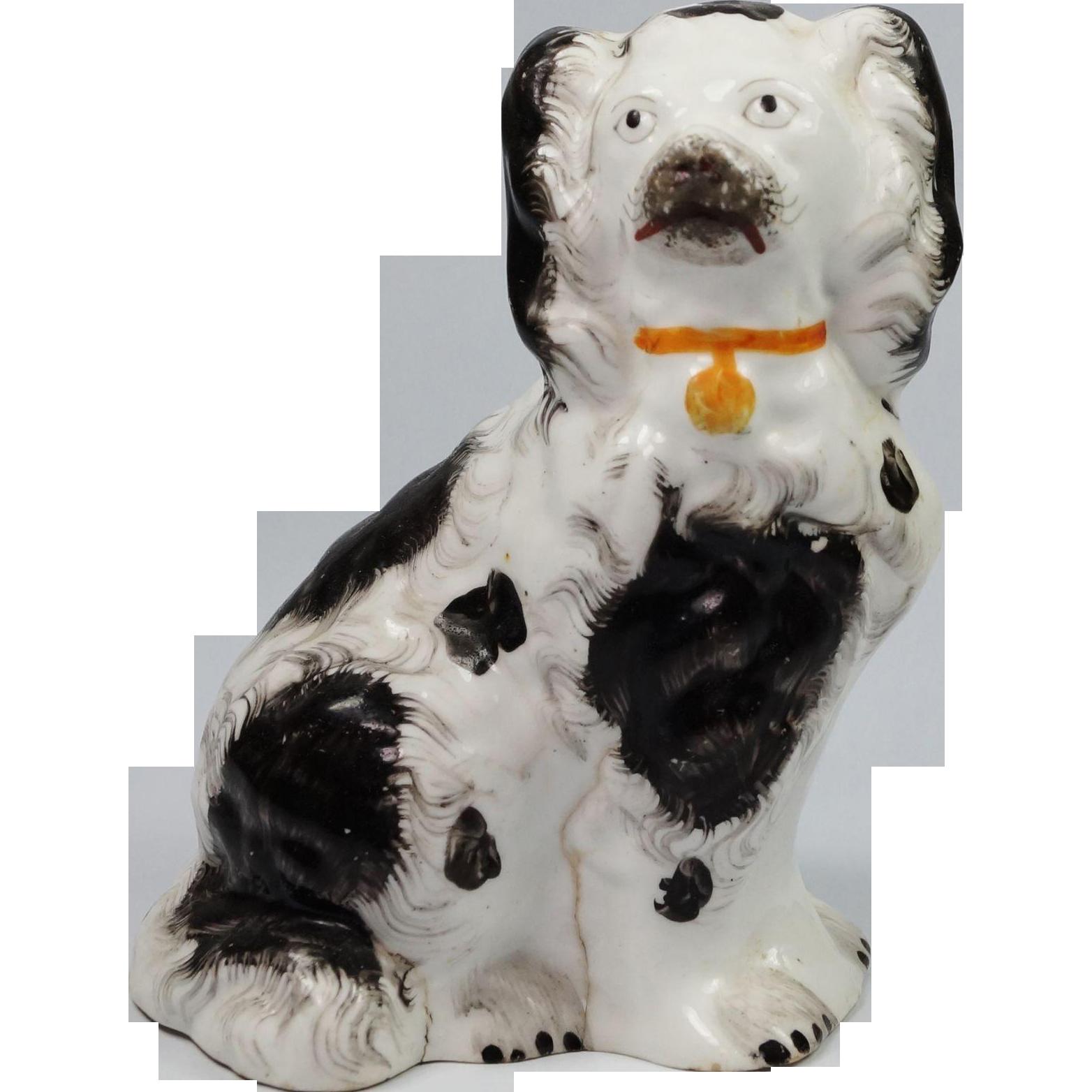 Antique Miniature Staffordshire Dog Circa 1845