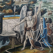 Antique Engraving Pair Astrology Raphael's Prophetic Almanac 1846 and 1848
