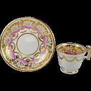 Georgian Spode Porcelain Cup and Saucer Pattern 2394 English Regency Period Circa 1815