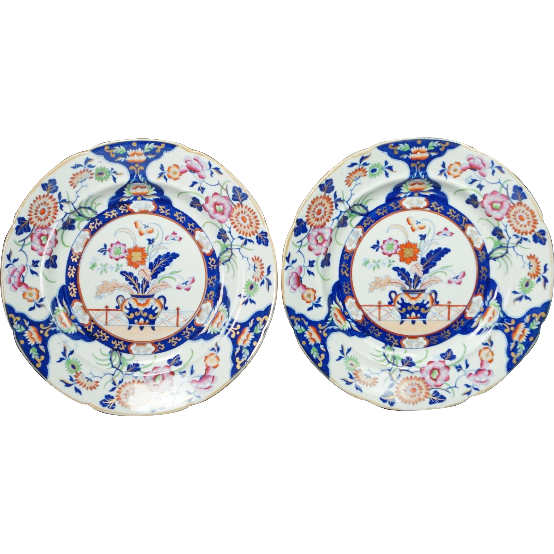 Antique 19th Century Masons Plates Circa 1850s