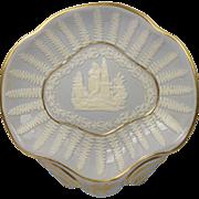 Georgian Ridgway Porcelain Sprigged Dish Circa 1810