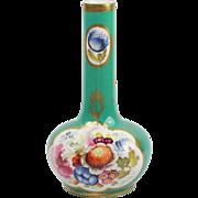 Circa 1820 Coalport English Porcelain Bud Vase Georgian Era
