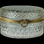 French Cut Glass Jewelry Casket Circa 1910 Pretty