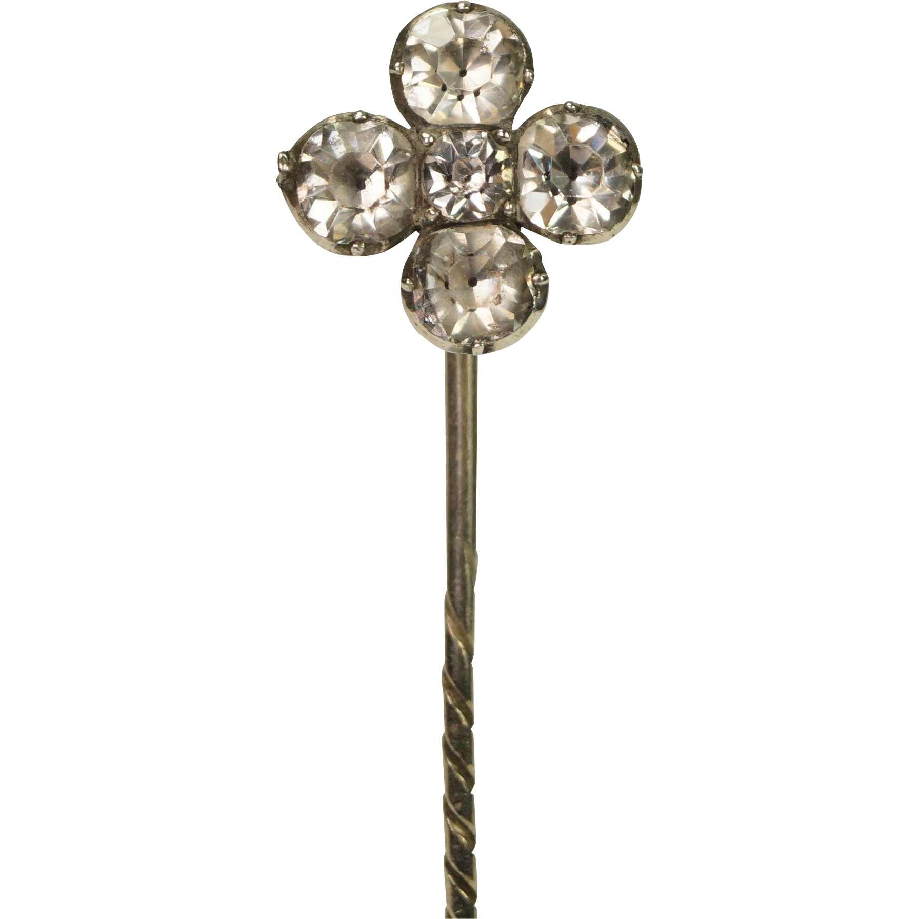 Georgian Black Dot Paste Stick Pin Circa 1810
