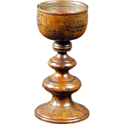 Antique Georgian Miniature Treen Toy Goblet Candle Stick English Circa 1830