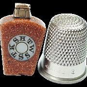 19th Century Watch Fob Charm Pendant Keystone Masonic Freemasonry Aventurine Gold Stone Circa 1890
