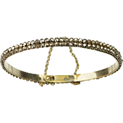 19th Century Victorian Cut Steel Bracelet Circa 1840s Small