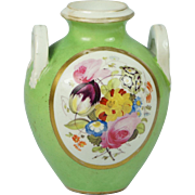 Early 19th Century Georgian Derby Porcelain Miniature Floral Amphora Vase English Circa 1811