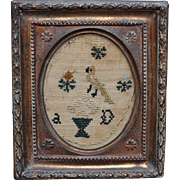 Georgian Miniature Needlework Sampler English Circa 1810