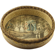 Delicious 19th Century French Open Fabric Candy Box