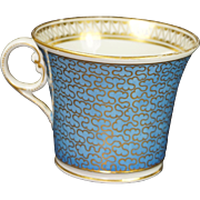 Early 19th Century Chamberlain Worcester Porcelain Cup Stormont Pattern Baden Shape Georgian Circa 1815