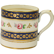 RESERVED RL Antique Georgian Porcelain Coffee Can Loop Handle Cup English FINEST QUALITY Circa 1800