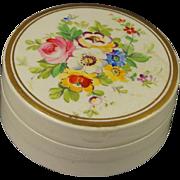 Antique Georgian Hand Painted Cream Rouge Pot Beautiful English Circa 1830