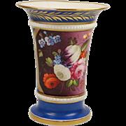 Georgian Spode Porcelain Spill Vase Pattern 1049 Circa 1808 Sevres Blue