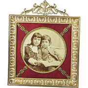 Antique French Empire Ormolu Photo Frame GORGEOUS Design Circa 1870