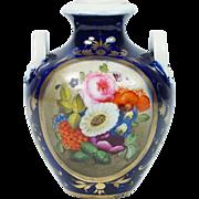 Antique Circa 1810 Derby Porcelain Miniature Amphora Vase English Regency ELEGANCE