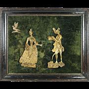 RESERVED JW Antique Georgian Gilt Relief Panel Circa 1800 Unusual Scottish Jacobite Interest Bonnie Prince Charlie