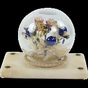 Antique French Palais Royal Paperweight Blown Glass En Tremblant Alabaster Base Circa 1870 AF DIVINE