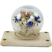 Antique French Palais Royal Paperweight Blown Glass En Tremblant Alabaster Base Circa 1870 AF DIVINE