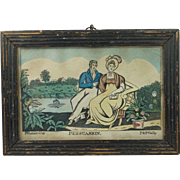 Antique Georgian Miniature Hand Colored Engraving Persuasion P and P Gally Circa 1810 Jane Austen Era