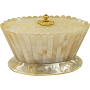 Antique Palais Royal Miniature Box Ormolu and Mother of Pearl Circa 1830 Beautiful