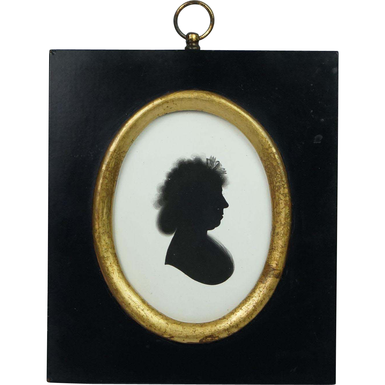 John Miers Painted Silhouette On Plaster With Trade Label Georgian Circa 1790s
