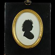 18th Century Painted Silhouette On Plaster John Miers Trade Label Georgian Circa 1790s