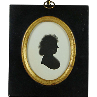 18th Century Painted Silhouette On Plaster John Miers Trade Label Georgian Circa 1790s