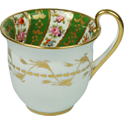 Georgian Coalport Porcelain Cup Empire Shape Circa 1820  AF