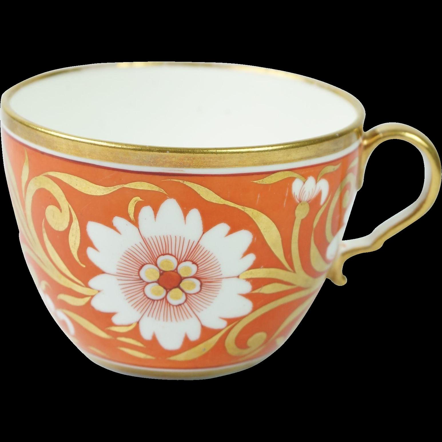 Georgian Spode Porcelain Cup Bute Shape Pattern 1020 Circa 1806