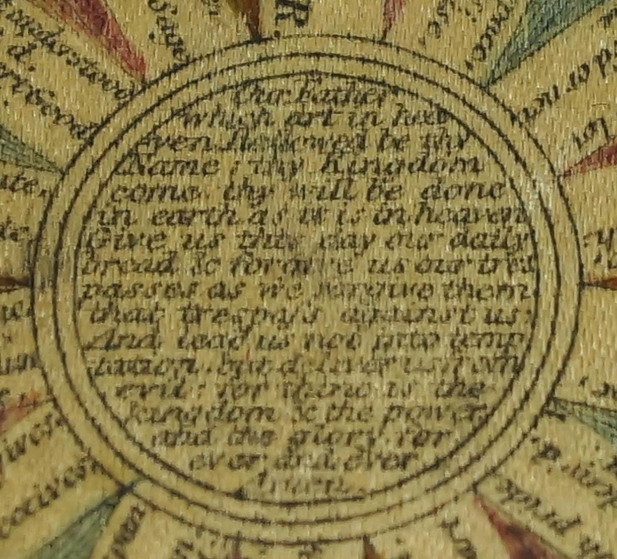 antique georgian pocket watch paper of colored printed silk popes