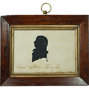 Antique Georgian Cut Silhouette Johann Gottfried Radervald 1802 Danish Denmark