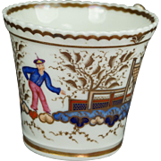 Antique Early 19th Century Chamberlain Worcester Porcelain Cup Chinese Figure Pattern 767 English Regency Era C 1820 AF