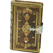 Antique 19th Century Miniature Bible The New Testament Tooled Leather Silver Clasp 1849 Eyre and Spottiswoode