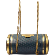 Antique 19th Century French Sewing Etui Casket Purse Box With Original Gilt Crochet Tools Circa 1870